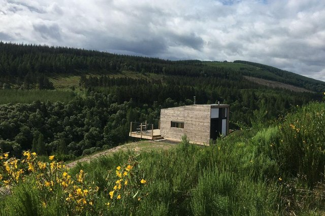 The Bothanna cabin on the Drummuir Estate