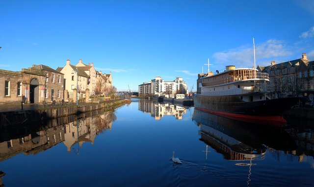 The Port of Leith, where the walking tour starts