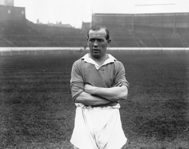Hughie Gallacher, the Newcastle and Scotland footballer, pictured in September, 1933. (Photo by Fox Photos/Getty Images)