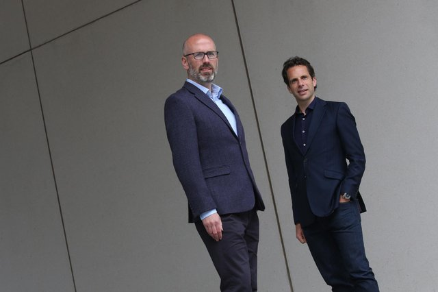 Left to right are Andrew McNeill and Mark Beaumont of Eos Advisory. Picture: Stewart Attwood