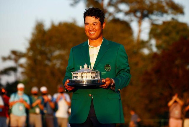 Hideki Matsuyama after his Masters win in April. Picture: Jared C. Tilton/Getty Images.