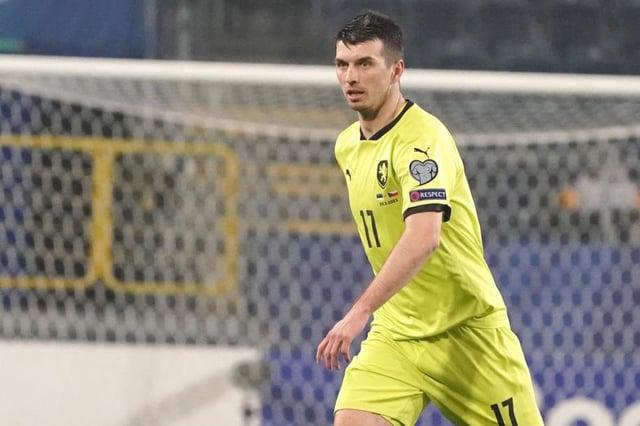 Czech Republic's defender Ondrej Kudela  (Photo by JANEK SKARZYNSKI/AFP via Getty Images)