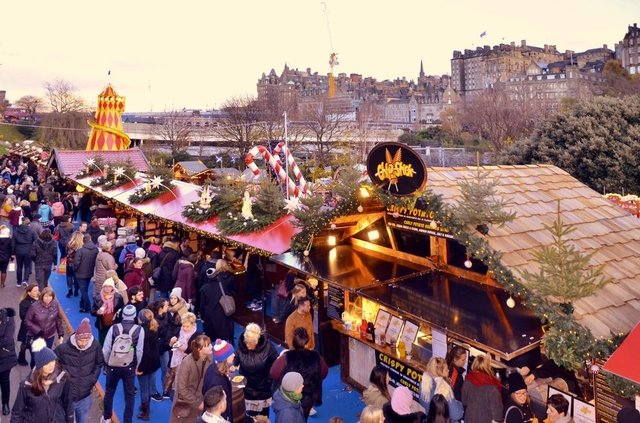 Scenes such as these at Edinburgh's Christmas Market are unlikely to be repeated this year.