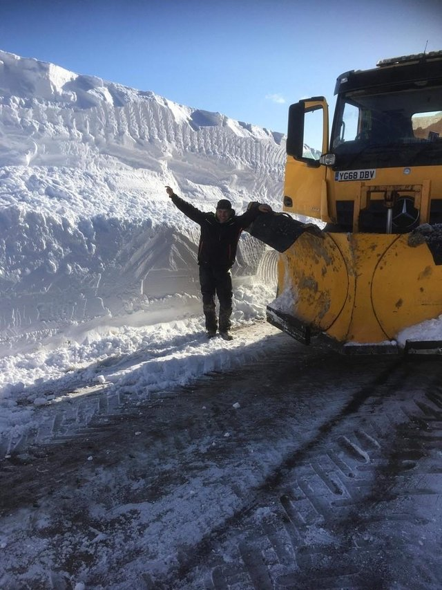 Snowdrifts up to 14ft high have been encountered at the Lecht. Picture: Aberdeenshire Council