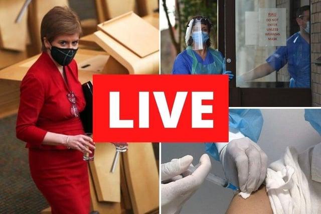 Coronavirus in Scotland LIVE: Nicola Sturgeon to address Parliament in weekly coronavirus ...