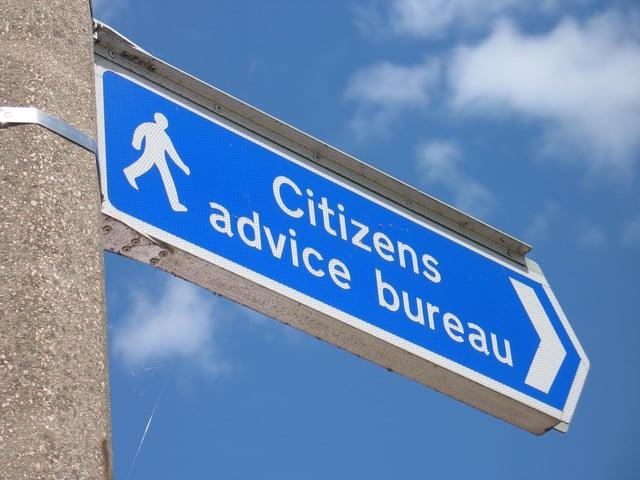 Debt problems were common in Citizens Advice Bureaux.