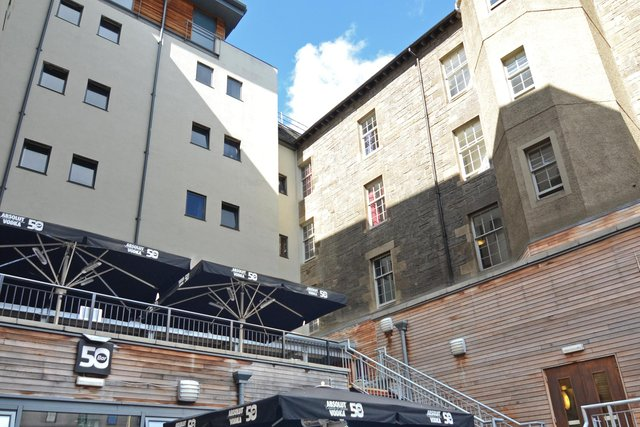 The vast hostel sits just off the Royal Mile in Edinburgh's Old Town and offers more than 600 beds and a range of facilities.
