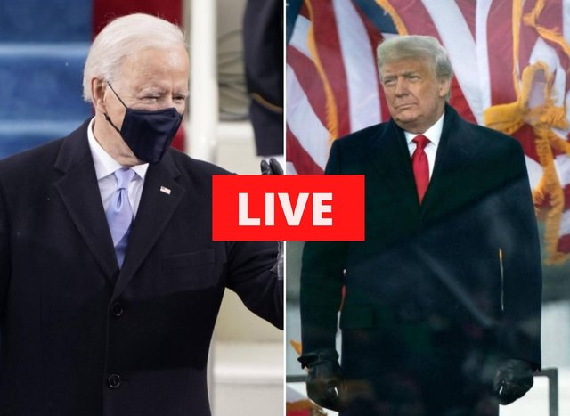 Joe Biden will formally become the 46th US president, succeeding Donald Trump. Pictures: AP & Getty Images.