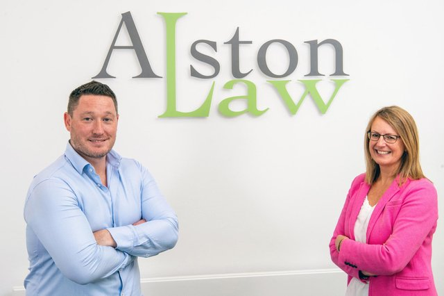 Simpson & Marwick managing partner Rob Aberdein,  with outgoing Alston Law MD Denise Loney, who becomes a director of Simpson & Marwick. Picture: Ian Georgeson