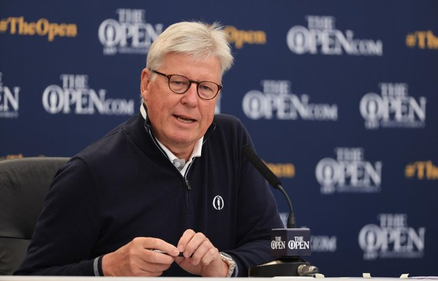 Martin Slumbers, chief executive of the R&A. during a press conference at Royal St George's Golf Club ahead of the Open. Picture: Handout/R&A/PA Wire