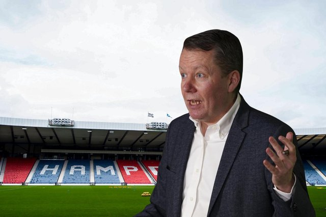 National Clinical Director Jason Leitch is hopeful of fans returning to Hampden in June - if restrictions are followed