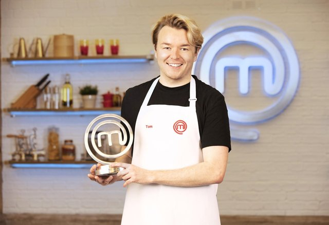 """Tom Rhodes, this year's MasterChef champion, who has said he plans to """"seize this opportunity"""" presented to him by the competition."""