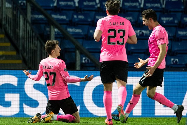 Daniel MacKay celebrates scoring for Inverness CT against Ross County in the Scottish Cup third-round tie