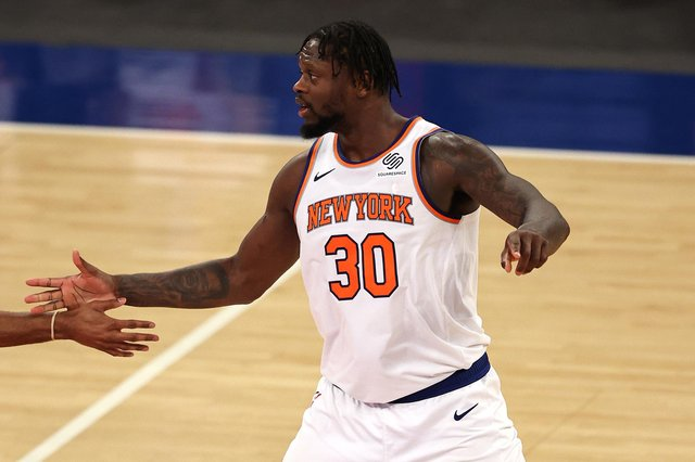 Julius Randle has become a real leader for the New York Knicks. Picture: Getty Images