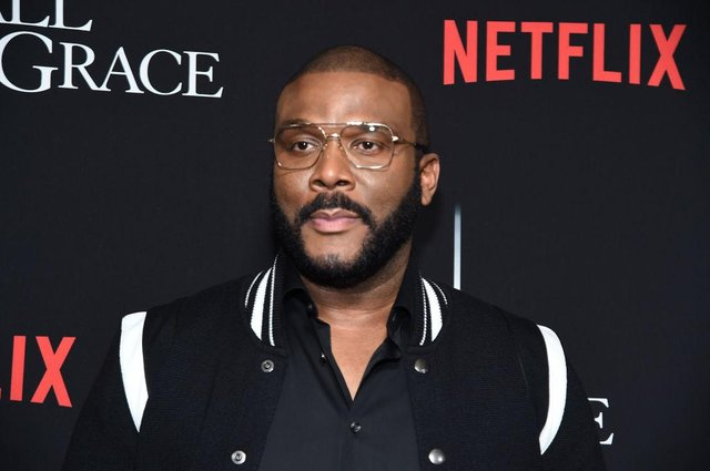 Tyler Perry offered Prince Harry and Meghan to stay at his LA home and make use of his security, after their royal security was revoked (Picture: Jamie McCarthy/Getty Images)