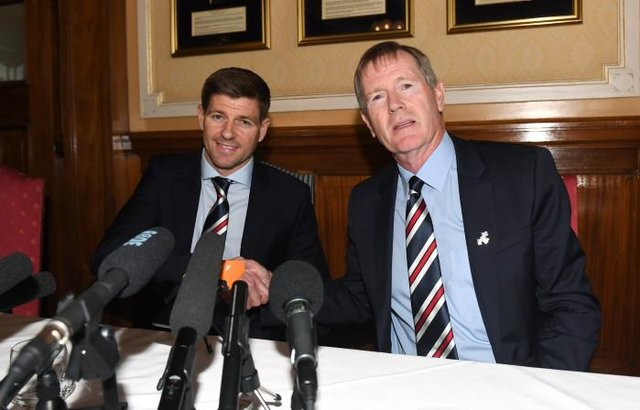 Steven Gerrard, pictured on the day of his unveiling as Rangers manager in May 2018, has paid tribute to the role of former chairman Dave King in the Ibrox club's imminent title success. (Photo by Craig Foy/SNS Group).
