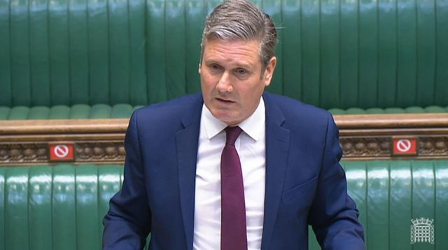"""Labour leader Keir Starmer accused the Prime Minister of being on the """"wrong side"""" of the culture war"""