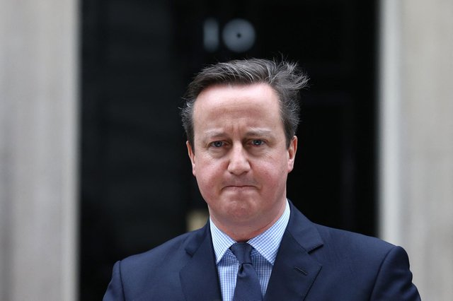 David Cameron reached the political top at a young age,  so to see him reduced to a rather desperate lobbyist is not just grubby, but tragic, says Ayesha Hazarika (Picture: Justin Tallis/AFP via Getty Images)