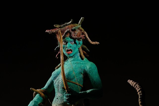 A model of Medusa from Clash of the Titans, Ray Harryhausen's final movie, is a star attraction in the exhibition.