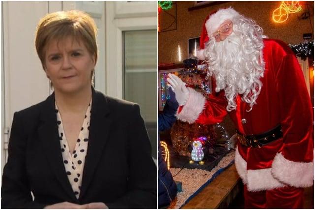 Nicola Sturgeon said Santa is a keyworker picture: JPI Media