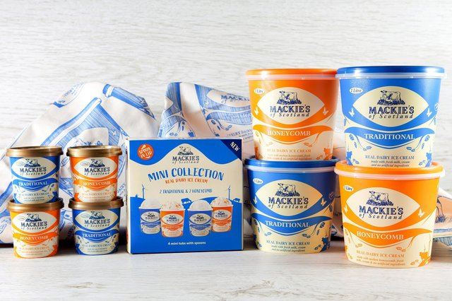 Mackie's of Scotland has a 'sky to scoop' ethos which sees it create everything from milk to its packaging on site, powered predominantly by renewable energy.