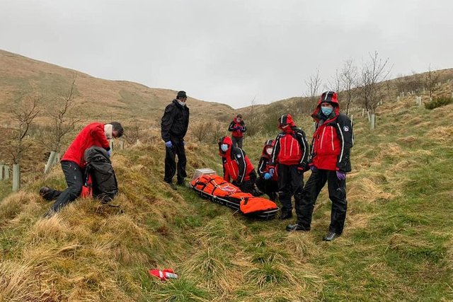 Phone technology helped the team locate the casualty (Pic:  Moffat Mountain Rescue Team)
