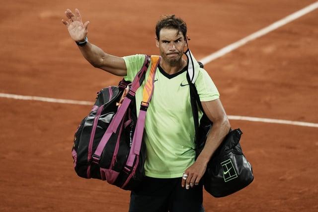 Rafael Nadal waves to the crowd after losing to Serbia's Novak Djokovic at Roland Garros. Picture: Thibault Camus/AP
