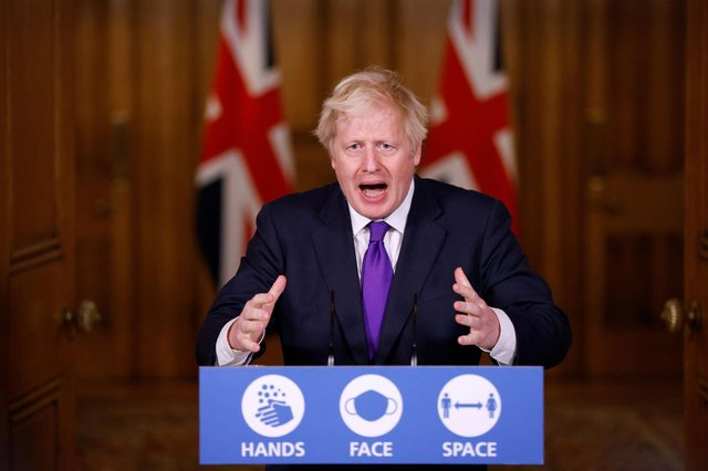 Prime Minister Boris Johnson during a media briefing on coronavirus in Downing Street. Picture: John Sibley/PA Wire