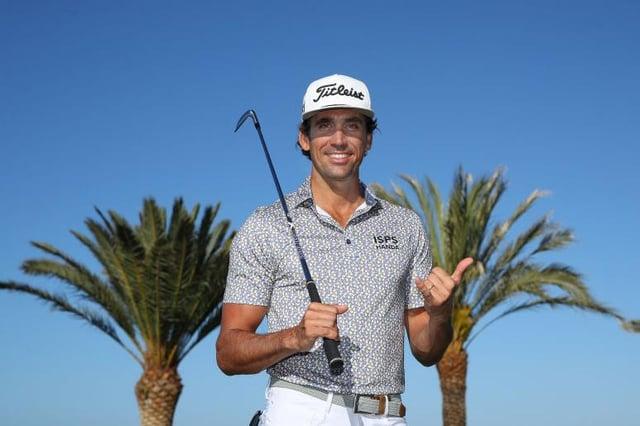 Tournament host Rafa Cabrera Bello poses for a portrait ahead of the Gran Canaria Lopesan Open at Meloneras Golf Club. Picture: Warren Little/Getty Images.