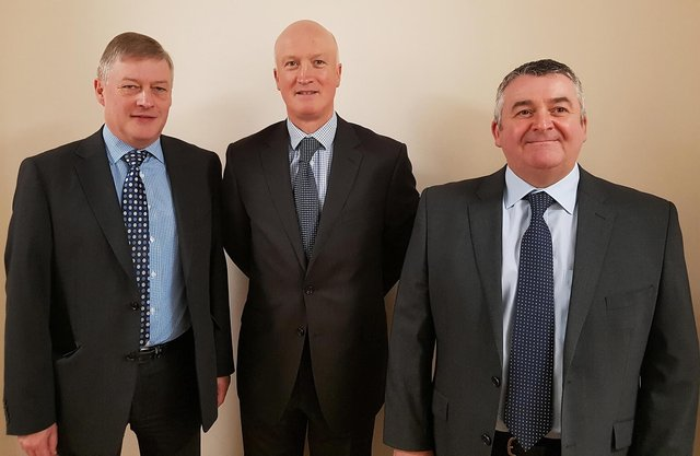 From left: Castle View Corporate Holdings executives David Bibby, Martin Bell, and Mark Drysdale. Picture: contributed.