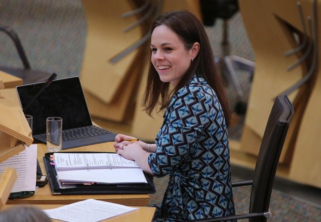 Kate Forbes, Scottish Finance Secretary, at Holyrood (Picture: Getty)