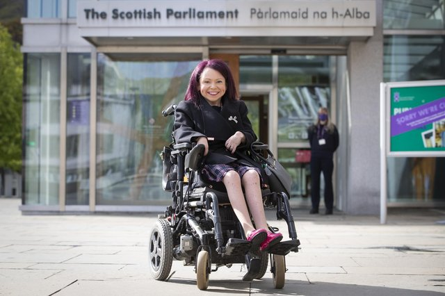 Scottish Labour's newly elected Pam Duncan-Glancy is the first permanent wheelchair elected to Holyrood.