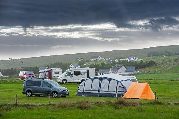 Campervans and tents on a campsite along Loch Gairloch, Wester Ross, Picture: Arterra/Universal Images Group via Getty Images