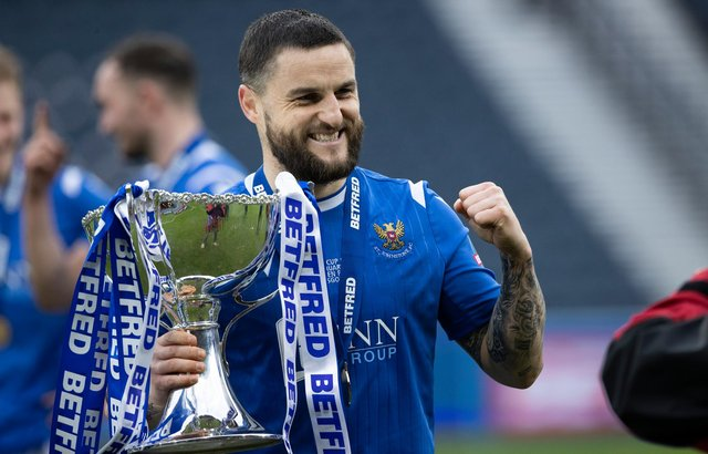 St Johnstone's Craig Conway with the League Cup following the final victory in February that gave him yet another sweet Hampden memory. Photo by Craig Williamson / SNS Group)