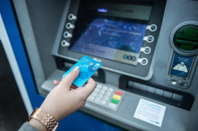 Fewer people have been visiting bank branches and using cash as a result of pandemic restrictions. Picture: John Devlin