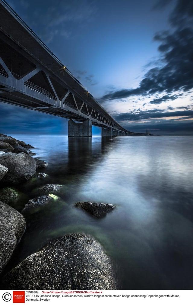 The Oresund bridge/tunnel between Denmark and Sweden is seen as a possible model for a Scotland-Ireland link. Picture: Daniel Kreher/imageBROKER/Shutterstock