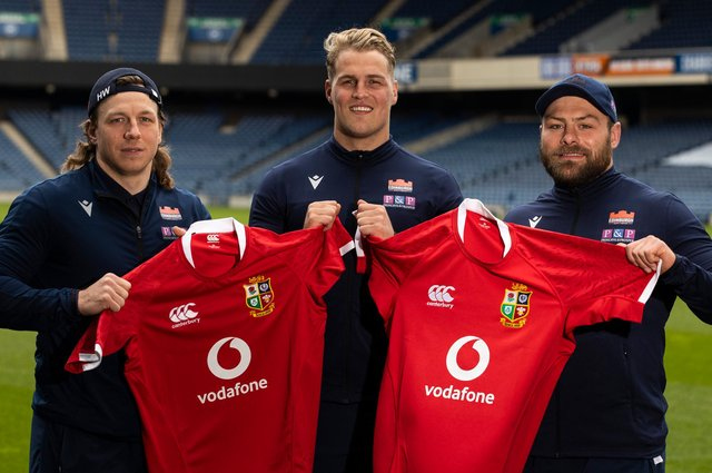 Edinburgh trio Hamish Watson, Duhan van der Merwe and Rory Sutherland are among the eight Scots in the British & Irish Lions squad. Picture: Craig Williamson/SNS