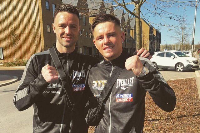 Vegas bound: Josh Taylor, left, is bidding to become the first British boxer to become undisputed world champion in the four-belt era and will have new European champions Lee McGregor in his camp in Las Vegas.