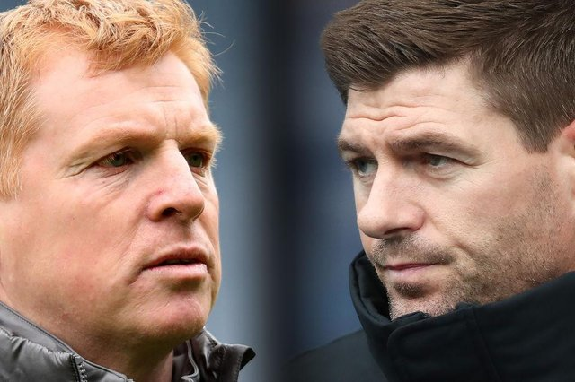 Neil Lennon and Steven Gerrard. (Photo by Ian MacNicol/Getty Images)