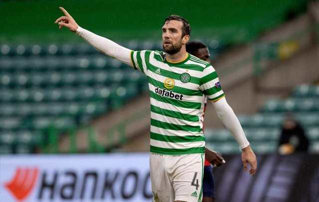 Shane Duffy in action for Celtic during the UEFA Europa League group stage match between Celtic and Lille at Celtic Park on December 10, 2020, in Glasgow, Scotland. (Photo by Alan Harvey / SNS Group)