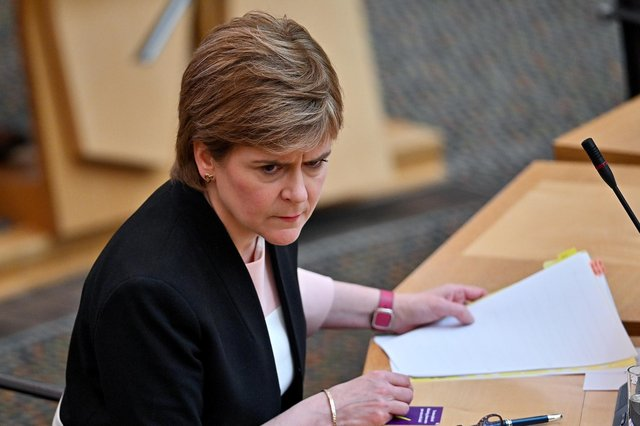 Nicola Sturgeon is fast losing her reputation for handling the Covid pandemic well, says Murdo Fraser (Picture: Jeff J Mitchell/WPA pool/Getty Images)