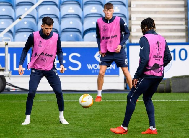 Ianis Hagi during a training session at Ibrox ahead of Rangers' Europa League opener against Standard Liege in Belgium. (Photo by Alan Harvey / SNS Group)