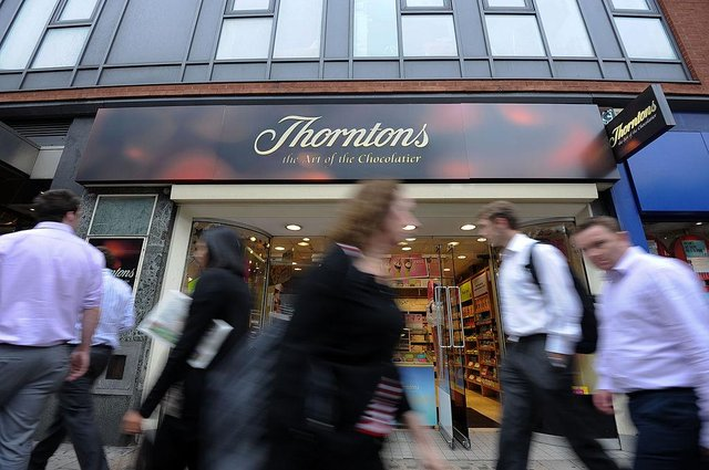 Thorntons has said 'changing dynamics of the high street, shifting customer behaviour to online, the ongoing impact of Covid-19, and the numerous lockdown restrictions have presented 'the most challenging circumstances' (Photo: Ki Price/AFP via Getty Images)