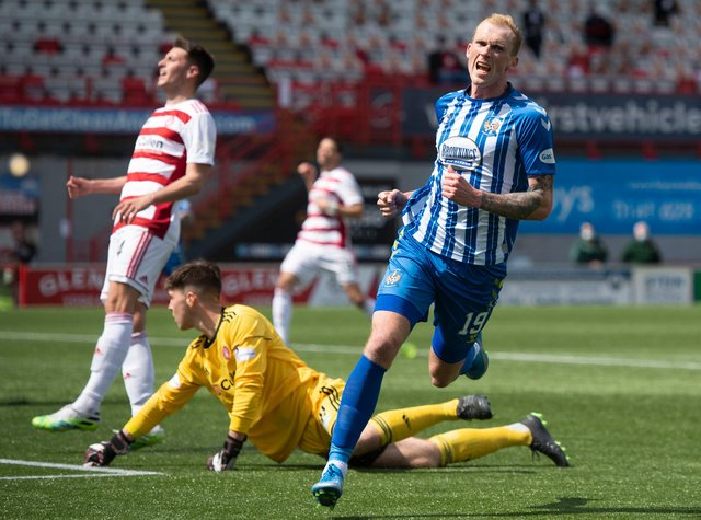 Mitch Pinnock hit a double in the win over Hamilton Accies. Picture: SNS