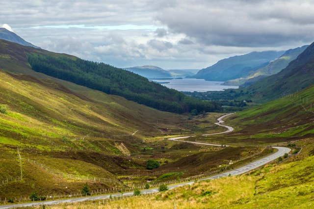 View of Loch Maree from Glen Doherty. Scotland's weekend weather forecast.