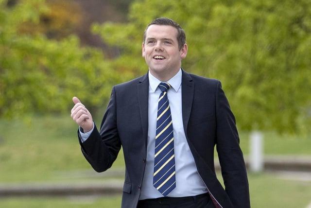 Douglas Ross arrives for registration at the Scottish Parliament