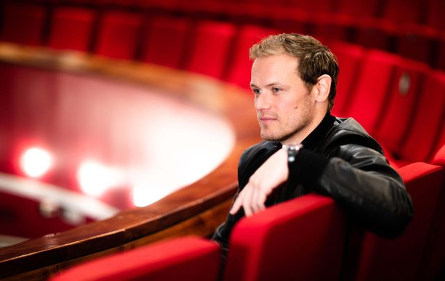 Sam Heughan returned to the Royal Conservatoire of Scotland to launch the new initiatives. Picture: Robert McFadzean