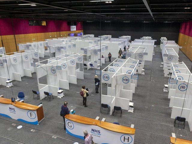 Behind the scenes at the EICC vaccination centre