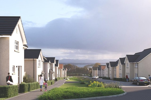 A computer-created impression of how the new development will look in the popular Fife seaside village of Aberdour.