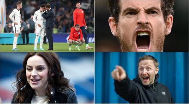 Des célébrités écossaises se sont tournées vers les médias sociaux à la suite de la douloureuse défaite finale de l'Angleterre à l'Euro 2020 contre l'Italie